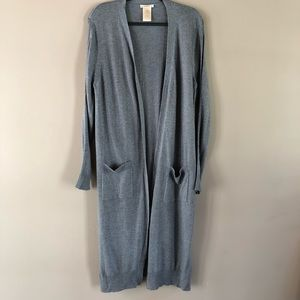 Matty M gray/blue cardigan XL